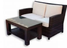 Sofa + coffee table Rattan 48x90, picture 2049